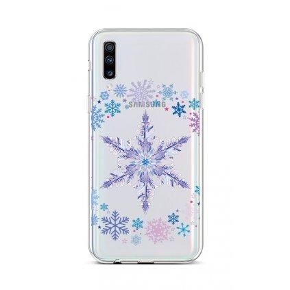 Zadný silikónový kryt na Samsung A70 Snowflake