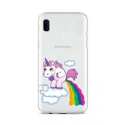 Zadný silikónový kryt na Samsung A20e Rainbow Disaster