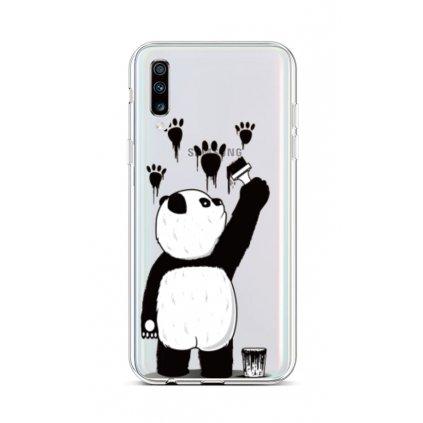 Zadný silikónový kryt na Samsung A70 Rebel Panda