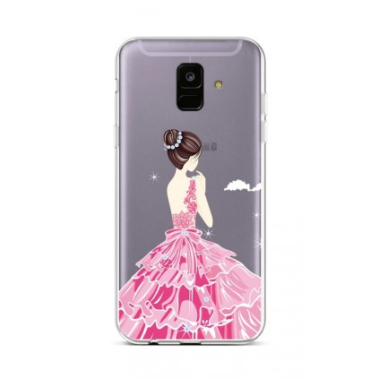 Zadný silikónový kryt na Samsung A6 Pink Princess