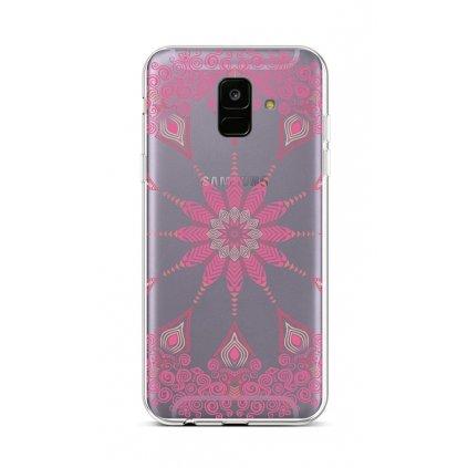 Zadný silikónový kryt na Samsung A6 Pink Mandala