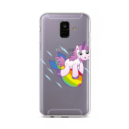 Zadný silikónový kryt na Samsung A6 Flying Unicorn