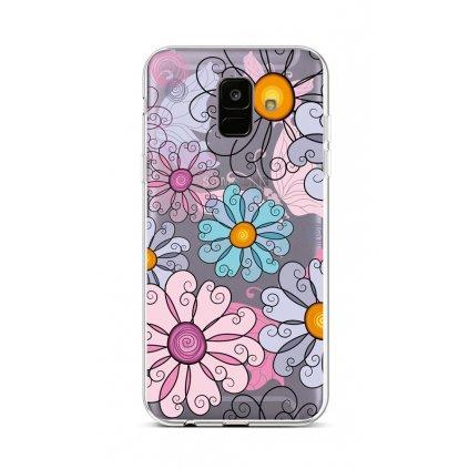 Zadný silikónový kryt na Samsung A6 Colorful Daisy