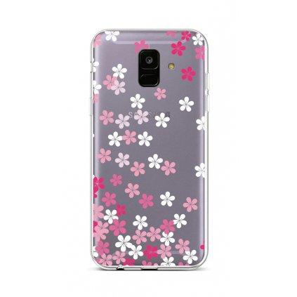 Zadný silikónový kryt na Samsung A6 Pink Blossom