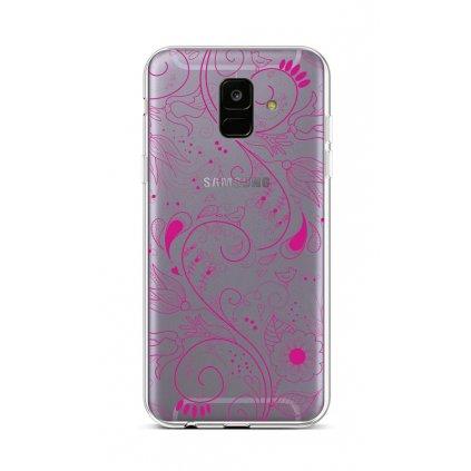 Zadný silikónový kryt na Samsung A6 Pink Ornament
