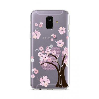 Zadný silikónový kryt na Samsung A6 Cherry Tree