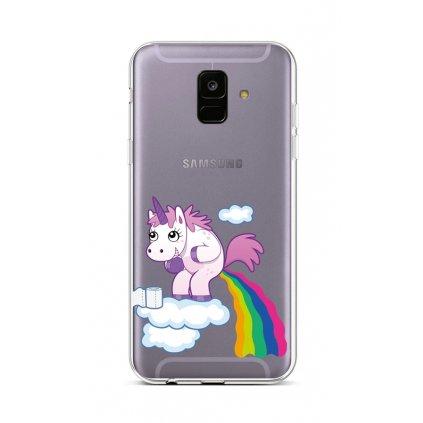 Zadný silikónový kryt na Samsung A6 Rainbow Disaster