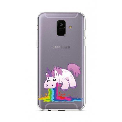 Zadný silikónový kryt na Samsung A6 Rainbow Splash