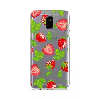 Zadný silikónový kryt na Samsung A6 Strawberries