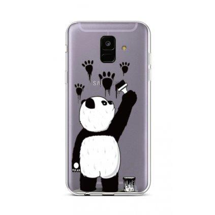 Zadný silikónový kryt na Samsung A6 Rebel Panda