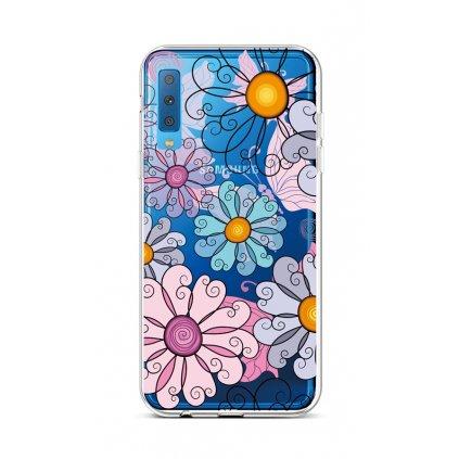 Zadný silikónový kryt na Samsung A7 Colorful Daisy