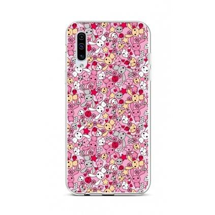 Zadný silikónový kryt na Samsung A50 Pink Bunnies
