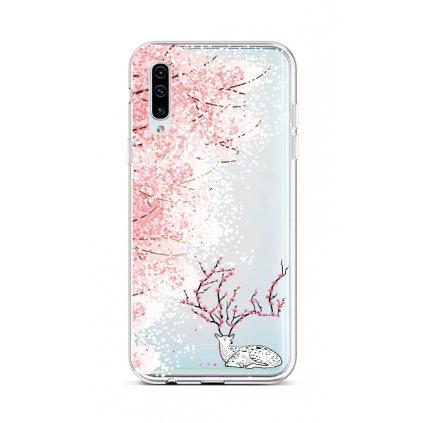 Zadný silikónový kryt na Samsung A50 Blooming Deer