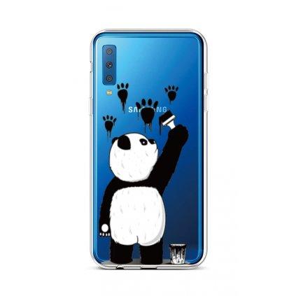 Zadný silikónový kryt na Samsung A7 Rebel Panda