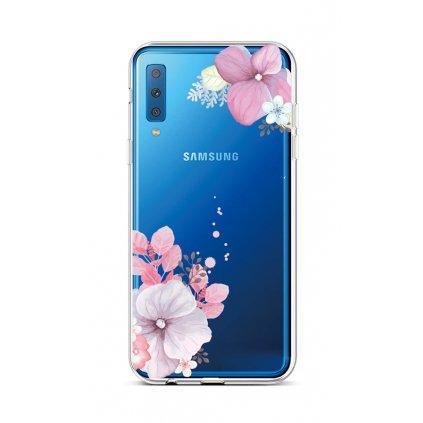 Zadný silikónový kryt na Samsung A7 Violet Blossom