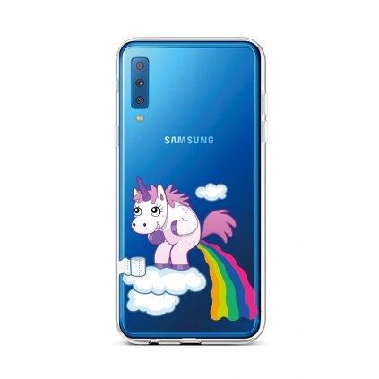 Zadný silikónový kryt na Samsung A7 Rainbow Disaster