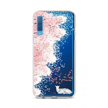 Zadný silikónový kryt na Samsung A7 Blooming Deer