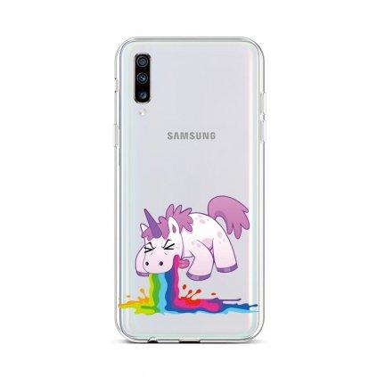 Zadný silikónový kryt na Samsung A70 Rainbow Splash