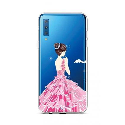 Zadný silikónový kryt na Samsung A7 Pink Princess
