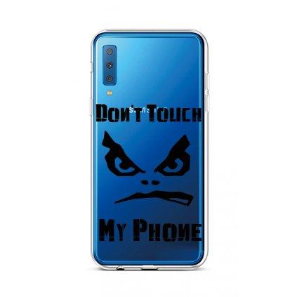 Zadný silikónový kryt na Samsung A7 Dont Touch priehľadný