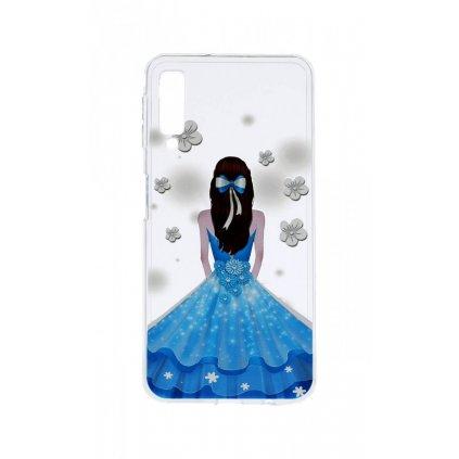 Zadný silikónový kryt na Samsung A7 Blue Princess