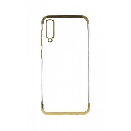 Zadný silikónový kryt na Samsung A50 Frame zlatý