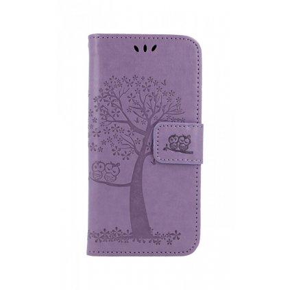 Flipové puzdro na Samsung A20e Svetlo fialový strom sovičky