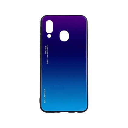 Zadný pevný kryt LUXURY na Samsung A40 dúhový purpurový