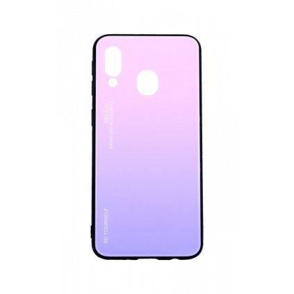 Zadný pevný kryt LUXURY na Samsung A40 dúhový ružový