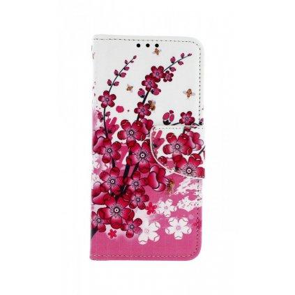 Flipové puzdro na Samsung A20e Kvety textil