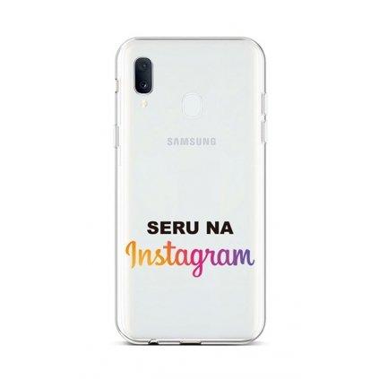 Zadný silikónový kryt na Samsung A20e Instagram