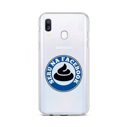 Zadný silikónový kryt na Samsung A40 Facebook