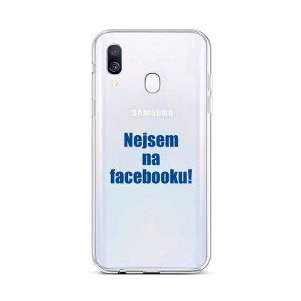 Zadný silikónový kryt na Samsung A40 Nie som na Facebooku