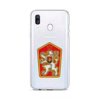 Zadný silikónový kryt na Samsung A40 Štátny znak