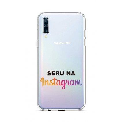 Zadný silikónový kryt na Samsung A50 Instagram