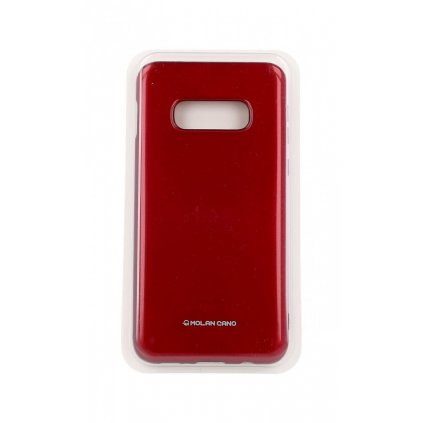 Zadný silikónový kryt Molano Cano Jelly na Samsung S10e červený