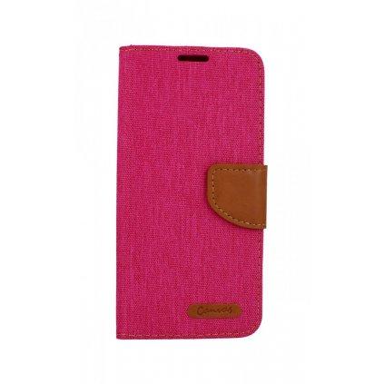 Flipové puzdro Canvas na Samsung A20e ružové