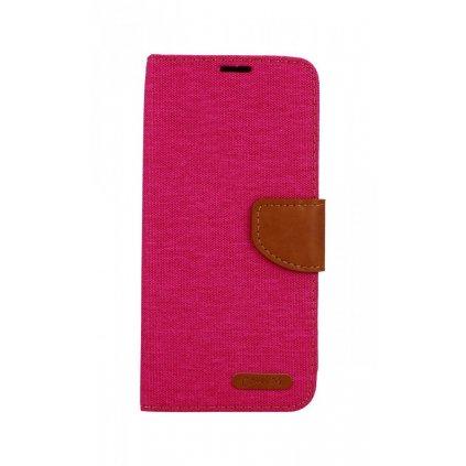 Flipové puzdro Canvas na Samsung J4 + ružové