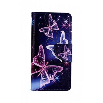 Flipové puzdro na Samsung A10 Modré s motýlikmi