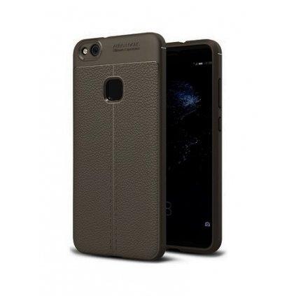 Zadný silikónový kryt na Huawei P10 Lite Leather sivý