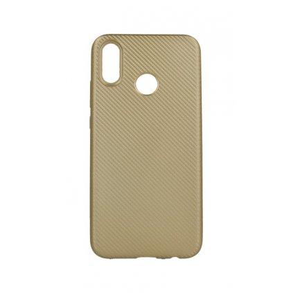 Zadný silikónový kryt na Huawei P20 Lite Carbon zlatý