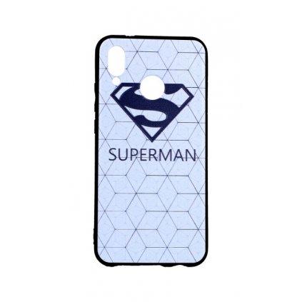 Zadný 3D silikónový kryt na Huawei P20 Lite Biely Superman