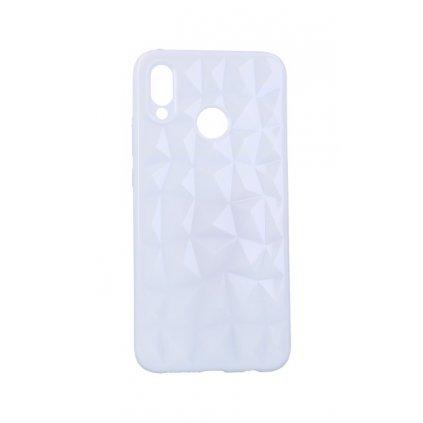 Zadný silikónový kryt Prism Jelly na Huawei P20 Lite biely