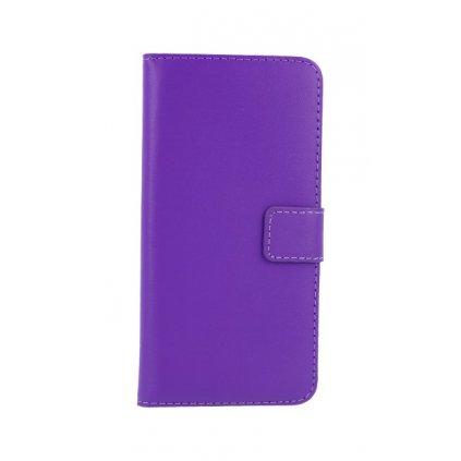 Flipové puzdro na Huawei P20 Lite fialové s prackou 2