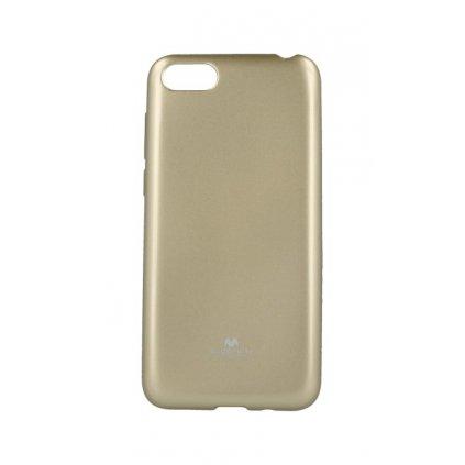 Zadný silikónový kryt Mercury Jelly Case na Huawei Y5 2018 zlatý