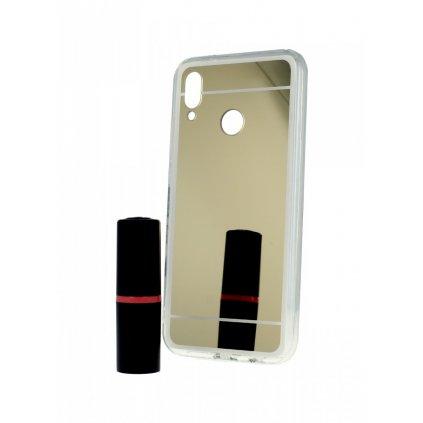 Zadný zrkadlový kryt na Huawei P20 Lite silikón zlatý