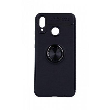 Zadný silikónový kryt na Huawei Nova 3 čierny s čiernym prsteňom