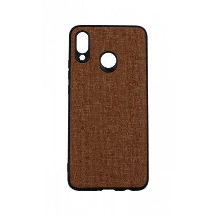 Zadný pevný kryt na Huawei Nova 3 Texture hnedý