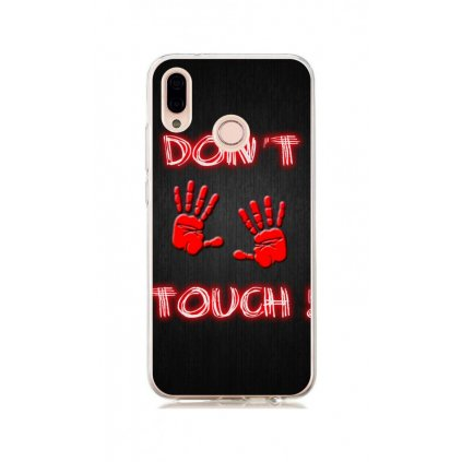 Zadný silikónový kryt na Huawei Nova 3 Dont Touch red