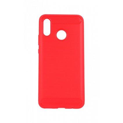Zadný silikónový kryt na Huawei Nova 3i červený